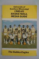 Vintage Basketball Media Press Guide University Of Southern Mississippi 1980-81