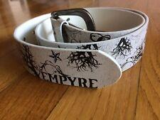 Cintura Empyre vera pelle NUOVA - bianca e nera - skater street mis. 32 - 100cm