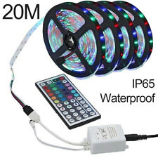 20M LED Strip Lights With IR Remote Back Light RGB 3528 12V Colour Changing