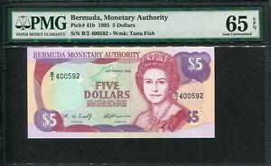 Bermuda 1995, 5 Dollar, P41b, PMG 65 EPQ GEM UNC