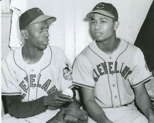 larry doby and satchel paige 8x10 photo cleveland indians