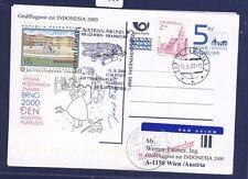 50280) LH / AUA SF Wien - Frankfurt - Djakarta 11.8.2000, GA ab Tschechien R!