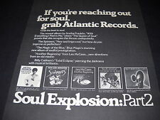 SOUL EXPLOSION Part 2 PROMO DISPLAY AD from 1974 ARETHA Blue Magic SPINNERS more