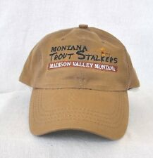 *MONTANA TROUT STALKERS MADISON RIVER VALLEY* WATERPROOF FLY FISHING HAT CAP