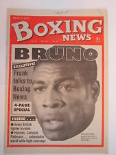 Boxing News 19 Mar 1993 Frank Bruno Dyer Wayne Buck Crawfod Ashley,Bramble