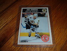 1992 Score JOE JUNEAU Boston Bruins Hockey Trading card