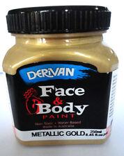 PAINTING - DERIVAN METALLIC FACE PAINTS - 1 GOLD 250ml bottle