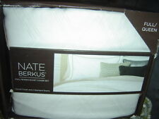 Nate Berkus Full / Queen Duvet Cover Set NB Interlock - Ivory - NEW