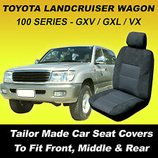 Car Seat Covers Toyota Landcruiser 100 Series GXL GXV VX All 3 rows 1998-2007