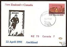 NEW ZEALAND v CANADA 1995 RUGBY TEST SOUVENIR COVER