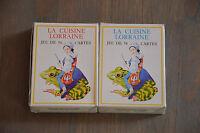 lot 2 paquets de 54 cartes anciennes - La CUISINE LORRAINE