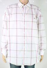 Tommy Hilfiger Mens Shirt White Multi Size 2XL Stripe Button Down $69 389