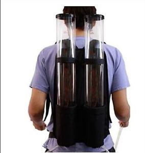 New Acrylic Backpack Dual Dispenser For Beer Drink Liquid Shot Pump Gun PUB O
