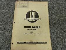 John Deere Model R Diesel Utility Tractor Shop Service Repair Manual Book Jd3