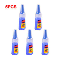 5pcs Industrial High Viscosity Superglue Strong Bond Instant Quick Dry Glue 20g
