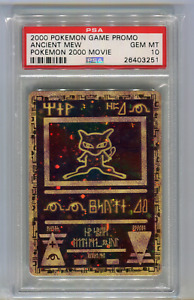 PSA 10 Ancient Mew Movie Promo Pokemon Game 2000