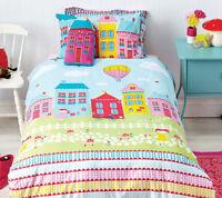 Lovely Lane Duvet Doona Quilt Cover Set | Reversible | House Cushion