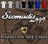 Mens Crew Neck Scomadi Logo T Shirt, Ska Mod Red, white, blue, black, grey BNWT