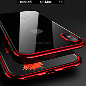 COVER per Apple Iphone XS / Max / XR CUSTODIA Slim Soft TPU ELECTROPLATING Case