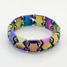 Electroplated Magnetic Hematite Stretch Bracelet Arthritic Pain & BP (BJEW-Q258)