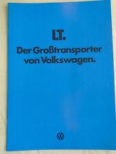 VW LT range brochure Jan 1978 German text