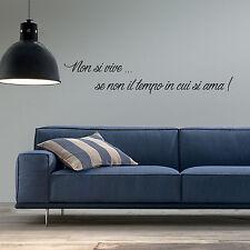 wall stickers frase frasi decorazione adesivo murale amore tempo aforisma love