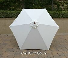 9ft Umbrella Replacement Canopy 6 Ribs in Off White (Canopy Only)