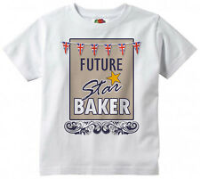 "Child Baking T-Shirt ""Future Star Baker"" British Bake Off Tee Funny Gift"