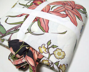 Pottery Barn Multi Colors Karina Floral Reversible Full Queen Duvet Cover New