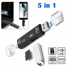 5 in 1 USB C to USB OTG Adapter USB C to SD Card Reader Type C Micro SD Card UK