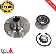 FORD TRANSIT CONNECT 1.8 2002 ON FRONT WHEEL HUB BEARING KIT + ABS NUT AND CLIP