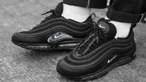 """NIKE AIR MAX 97 """"BLACK"""" (921826 015) UNISEX TRAINERS VARIOUS SIZES"""