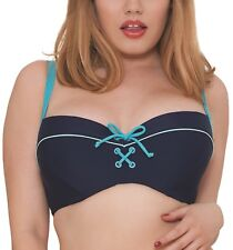 Curvy Kate CS4061 Set Sail Balcony Bikini Top in Indigo Mix