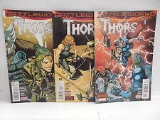 Thors Battleworlds Marvel Secret Wars Comic Books 1-3 Asgard God Of Thunder Beta