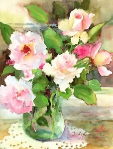 Congratulations Wedding Day Pink Roses Judy Buswell Leanin' Tree Greeting Card