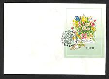 Hungary 1994 FDC. Europian Flowers, map, sheet
