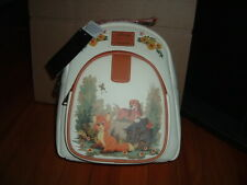LOUNGEFLY DISNEY FOX AND THE HOUND FLORAL MINI BACKPACK~ WITH TAGS~ BRAND NEW~
