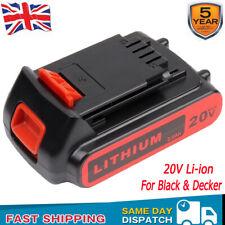 For Black & and Decker 18V Cordless Drill Lithium Ion Slide Battery 20V Li-ion