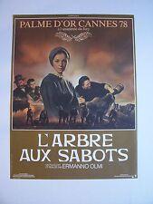 """Affiche Cinéma  """" L'ARBRE AUX SABOTS """" / de Ermanno Olmi - 1978  ( 39 x 52 cm )"""