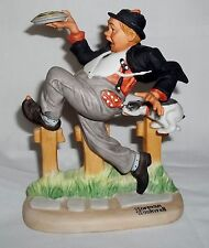 "The 12 Norman Rockwell Porcelain Figurines ""Caught in The Act"" Sep 1980 Danbury"