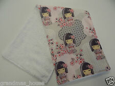 Gorgeous Kimmi Doll Burp Cloths ONE ONLY Toweling Backed GREAT GIFT IDEA!!