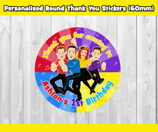 12x THE WIGGLES ROUND THANK YOU STICKERS (60MM) PARTY SUPPLIES TOPPER