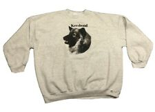 Vintage Men's Keeshond Dog Gray Crewneck Sweatshirt Sz 4Xl Xxxxl Made In Usa Euc