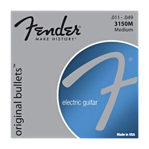 Fender 3150m Pure Nickel Bullet End 11-49 Electric Guitar Strings  -