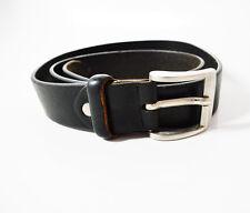 Vintage Mens Leather Belt Black