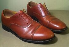 Lands End Brown Leather Oxfords Dress Shoes Lace Up Mens Size 11 D
