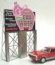 MILLER ENGINEERING Car Wash Neon Sign O/HO Scale # 8381