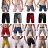 Mens Sexy Long Boxer Shorts Underwear Leg Soft Briefs Sports Trunks Pants Lot