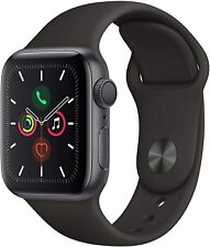 *NEW* Apple Watch Series 5 40mm Space Grey Aluminium Case with Black Sport Band