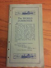 Vintage 1929 Boy Scout World Jamboree, Arrowe Park, Upton England, Itinerary